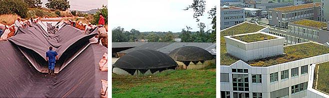 Защита кровель и фундаментов, сооружений чаш резервуаров, водоемов
